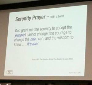 Modified Serenity Prayer